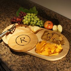 Entertainer's Dream Personalized Cutting Board Knife & Serving Tray with Monogram Design Options and Font Selection (Each) by DesignstheLimit #TrendingEtsy
