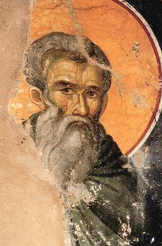 Venerable Theoctistus - Orthodox Church in America Fresco, Byzantine Icons, Byzantine Art, Byzantine Mosaics, Tempera, Icon Collection, Art Icon, Orthodox Icons, Angel Art
