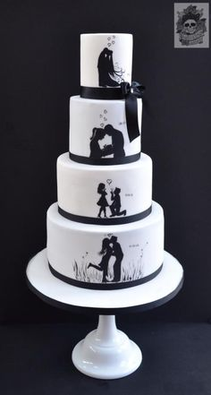 Sentimental Silhouettes - Cake by Karen Keaney