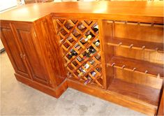Mahogany Home Bar Pub Shop or Store Counter 10 Ft Long Hand Crafted - The Kings Bay Beveled Edge Mirror, Store Counter, Home Bar Furniture, Raised Panel Doors, Back Bar, Storage Rack, Joinery, Wine Rack, Coffee Shop