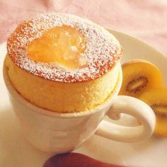 卵1個♡マグカップでヨーグルトチーズスフレ