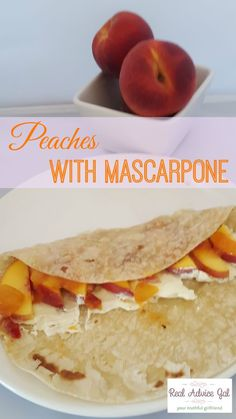 Treat yourself with this delicious Peaches with Mascarpone recipe.