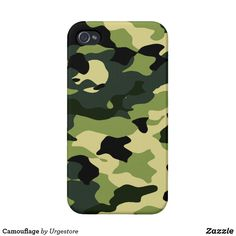 Camouflage Case For iPhone 4 Iphone 4, Iphone Cases, Business Supplies, Plastic Case, Party Hats, Camouflage, Your Design, Art Pieces, Pattern