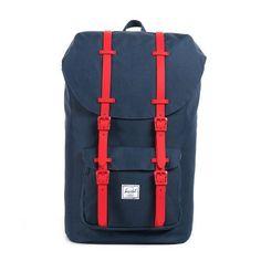 Herschel Little America Hochwertiger Rucksack mit mehreren Fächern und gepolsterten, verstellbaren Rückenriemen