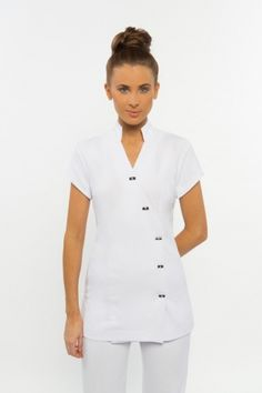 Spring Spa Wear has been one of the leading designers of beauty salon uniforms in Australia. Buy tunics for beauty uniforms, spa uniforms, hairdressing and beauty therapy professionals. Salon Uniform, Spa Uniform, Spa Outfit, Beauty Uniforms, Spring Spa, Work Uniforms, Uniform Design, Teenager, Mandarin Collar