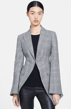 McQ by Alexander McQueen Single Breasted Plaid Jacket available at #Nordstrom
