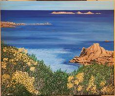 Scorcio Costa Smeralda Acrilico su tela 50x60