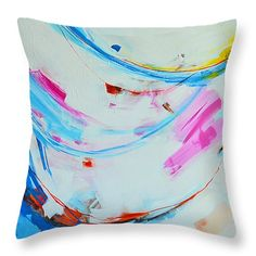 """Serendipity 3 Abstract Painting Throw Pillow 14"""" x 14""""  #throwpillow #homedecor"""