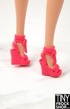 Tiny Frock Shop Barbie Worlds Smallest My Little Pony - Set of 2- More Colors Platform Wedges Shoes, Wedge Heels, My Little Pony Set, Barbie Shoes, Barbie World, New Product, Fashion Dolls, Women's Accessories, Hot Pink