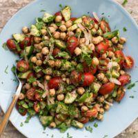Spiced Chickpea Cucumber Salad