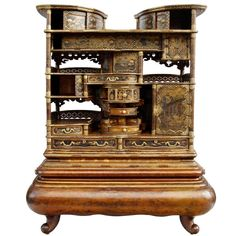 Very Unusual Japanese Cabinet - Shodana - From Meiji Period | From a unique collection of antique and modern lacquer at http://www.1stdibs.com/furniture/asian-art-furniture/lacquer/