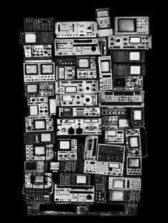 Photographer Valerie Belin creates large scale black and white photographs of the carcasses of computers, screens, photocopiers and other electronic equipment
