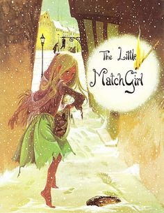 "Illustration by Janet and Anne Grahame Johnstone for ""The Little Match Girl"", from 'A Book of Fairy Tales', published by Dean & Son Ltd. of London, 1977."