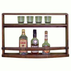 Finding the best place to store your favorite bottles of wine, spirits and glassware can be difficult, but not with the 2 Day Designs Spirits Wall Rack. Constructed from recycled pine, this handcrafted display is a beautiful addition to any room, and takes up virtually no floor space for your convenience.