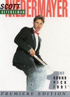 1991 1st Round Pick Hockey Trade Card Collector/Trade Card #2 Scott Niedermayer