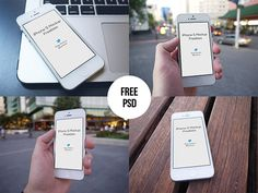 Here are four shots of iPhone mockups that you can use for showcasing your projects. Free PSD released by Regy Perlera.