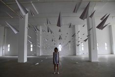 Love this paper plane installation : http://www.dawn-ng.com/new/paperplanes/4.html