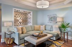 Condo Remodel - beach-style - Family Room - Miami - Little Palm Design Group