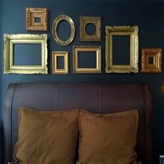 a picture says a 1 000 words but a photo frame sans photo spells stylish turn any wall in to a feature wall with an assortment of photo frames and they