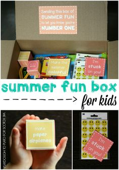 So fun!! Send a DIY Summer Fun Box to a kid far away.