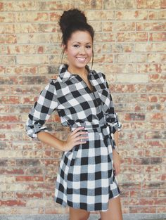 By The Bonfire Checked Dress