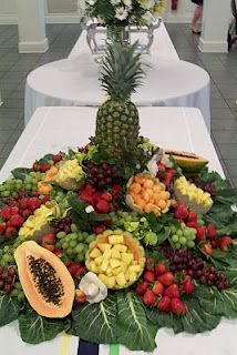 fruit display using floral foam