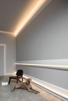 Skirting, panelling & indirect lighting -  REF. SX167, C373, C374 & C991
