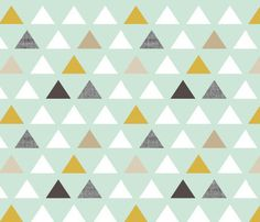 Fitted Crib Sheet Mod Mint Triangles - Triangle Crib Sheet - Mint Crib Sheet - Mint Toddler Sheet -