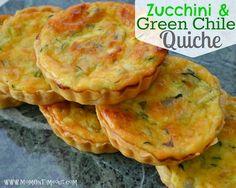 Zucchini and Green Chile Quiche   MomOnTimeout.com