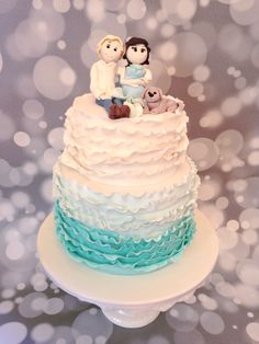 Ruffle cake with Sugar Topper, by Amy Hart