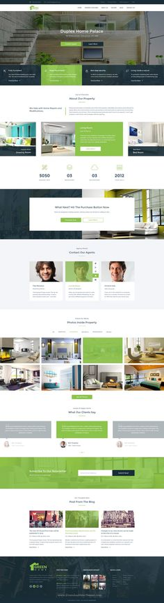 Green Home Single Property Real Estate #PSD Template is best solution for both Real Estate Agencies and #Property Owners #website. Download Now!