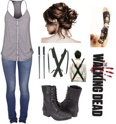 """The Walking Dead"" by myanichole ❤ liked on Polyvore"