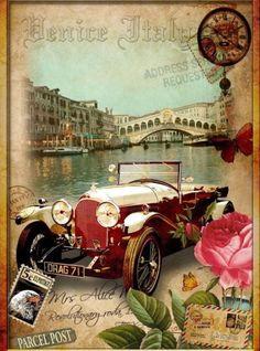 venice vintage poster #shelbyclassiccars