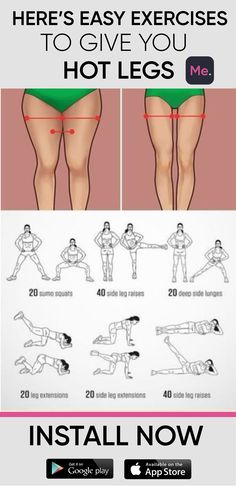 A workout for you to get hot legs! Exercises were created to reduce the size of … A workout for you to get hot legs! Exercises were created to reduce the size of the thigh quick and easy! Do it and enjoy the results! Exercise Fitness, 30 Day Fitness, Excercise, Fitness Motivation, Health Fitness, Fitness Pal, Health Club, Fitness Quotes, Fitness Tracker