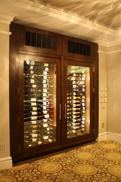 Refrigerated Wine Cabinet In Upscale Vegas Home Cabinets Pinterest S And