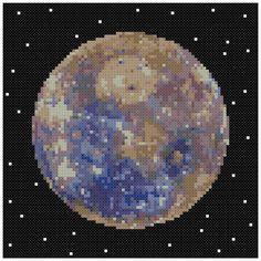 PDF Cross Stitch pattern : 0056.Mercury planet by PIXcross