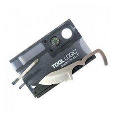 SOG Knives Survival Card w/Firestarter w/Compass, Charcoal #SOGKnives
