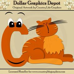 Alphabet Letter C - Cutting Files / Paper Piecing Patterns by Country Life Graphics - Dollar Graphics Depot: Quality Graphics, Printable Crafts, Scrapbooking, Cutting Files, Digital Stamps, and more - $1.00