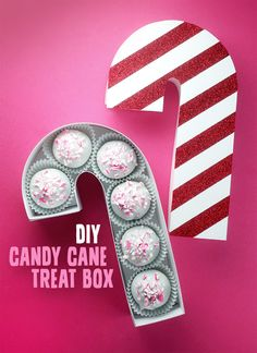 DIY Candy Cane Treat Box                                                                                                                                                                                 More