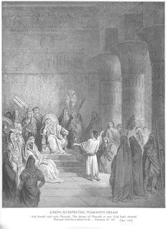 The Doré Bible Gallery. Joseph Interprets Pharaoh's Dream.