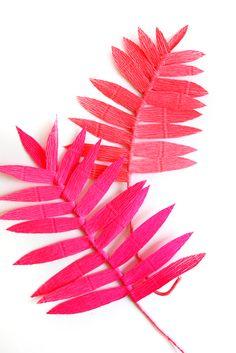 Colorful Crepe Paper Ferns DIY