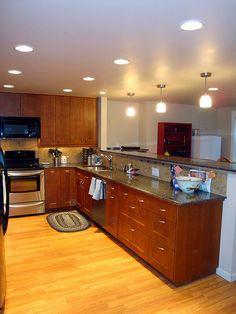 Best Finished Kitchen Ikea Adel Medium Brown Caesarstone 640 x 480