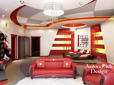 To all fans of Formula 1 is devoted! So what do you think about this stunning interior; Boy Car Room, Baby Room, Kids Room Design, Design Bedroom, Formula 1, Kids Bedroom, Room Decor, House Design, Homes