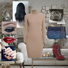 Jewelry Designer Blog. Jewelry by Natalia Khon: Christmas outfit with a mixed metal pendant