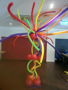 Fiesta balloon tree - entryway size or buffet size.  Can adjust colours to suit any theme.