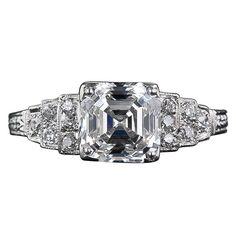 2.03 Carat 'F-VS1' Asscher Cut Diamond Engagement Ring