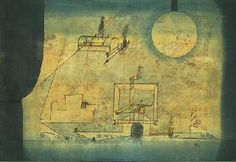 """Paul Klee  'The Gate to Hades'  1921  Watercolor and oil transfer drawing on laid paper mounted on thin cardboard  10 7/8 x 15 3/8"""""""