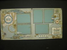 scrapbook layout circles and rectangles - Google Search