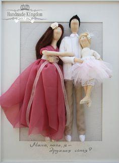 Tilda+doll+custom+portrait+Romantic+pink+от+theHandmadeKingdom,+€120.00