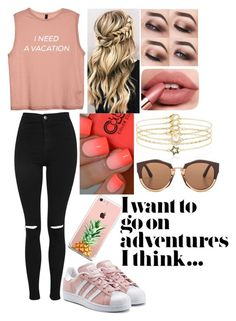 """""""Adventure"""" by blackveilwidow ❤ liked on Polyvore featuring Accessorize, Topshop, adidas Originals, Marni and The Casery"""